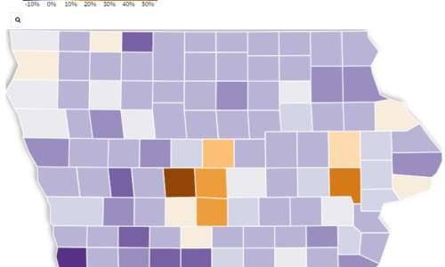 Interactive map: Which Iowa counties gained, lost in 2020 census?