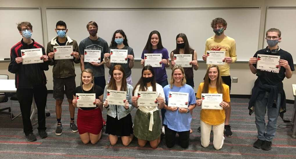 Linn-Mar students sign 'letter of intent' to pursue career in education