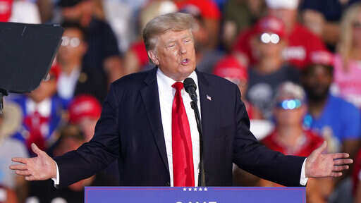 Trump airs old election grievances in return to rally stage