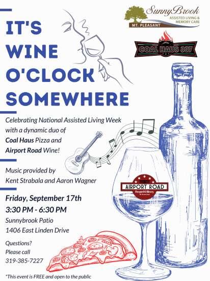 It's Wine O'Clock Somewhere event at Sunnybrook