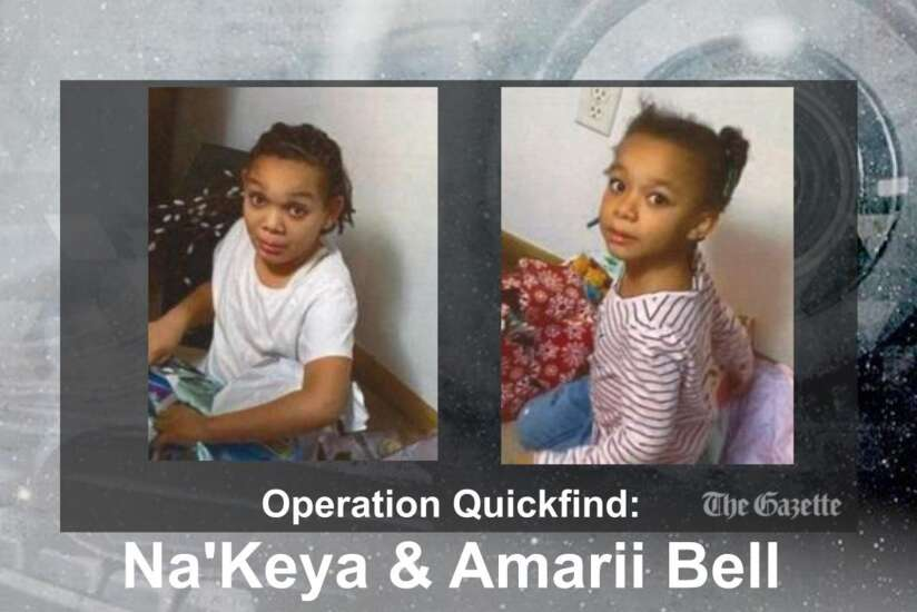 (CANCELED) Operation Quickfinds issued for 6-year-old, 9-year-old Cedar Rapids sisters