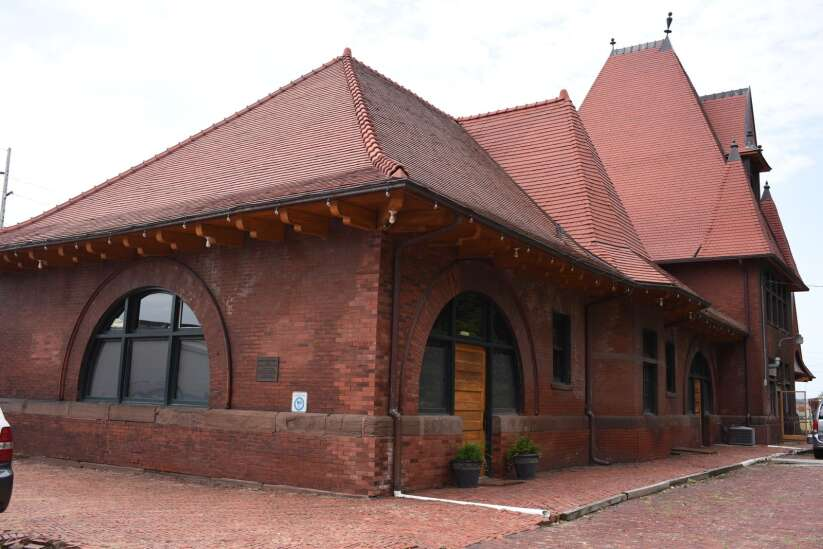 Time Machine: Keokuk's 1891 train depot being restored