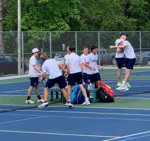 Cedar Rapids Xavier captures Class 1A boys' state tennis title