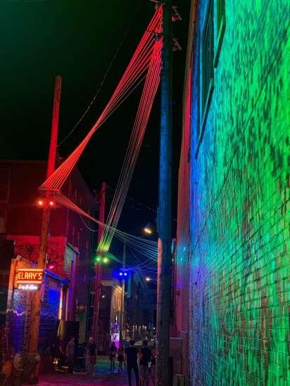 New public art lights up popular Iowa City alley