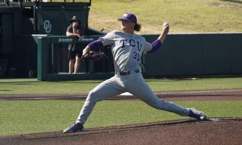 Lisbon's Austin Krob makes an impact for powerful TCU baseball…