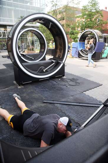 'Loop' interactive art brings new life to Iowa City's Pedestrian Mall