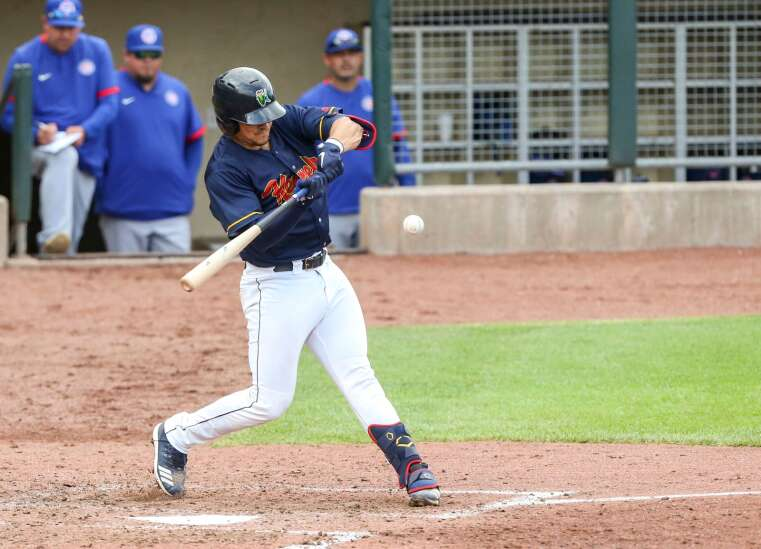 Alex Isola just a triple shy of a cycle in helping Cedar Rapids Kernels to big win