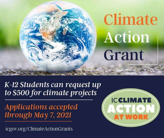 Iowa City Climate Action Grant application deadline extended for students