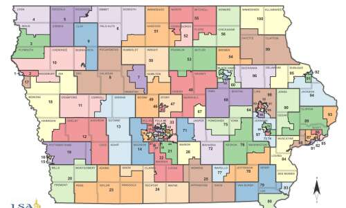 See the proposed redistricting maps for Iowa's congressional, legislative districts