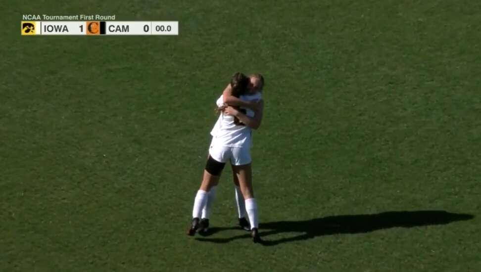 Iowa beats Campbell for 1st NCAA women's soccer tournament win