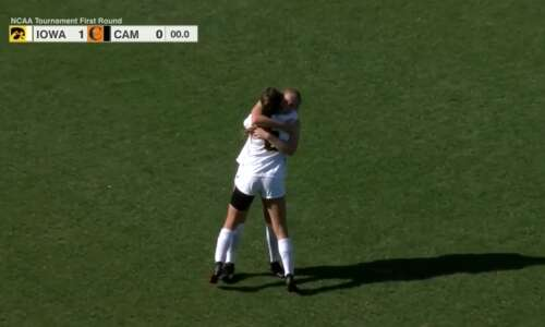 Iowa beats Campbell for 1st NCAA women's soccer tournament win