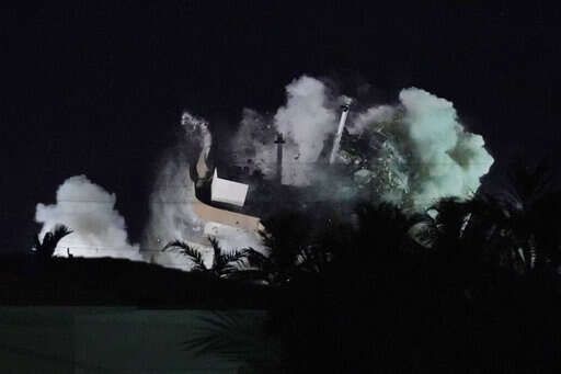 Explosives bring down rest of South Florida collapsed condo