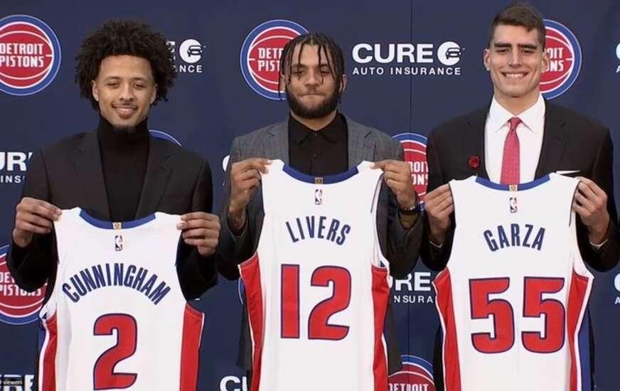 Luka Garza keeping No. 55 with Detroit Pistons