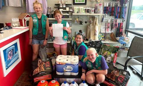 Springville Girl Scouts earn highest achievement for animal shelter project