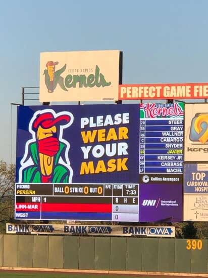 Want a Kernels mask? You'll have to go online shopping