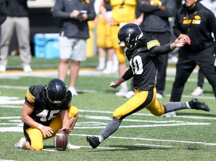 'You're seen as a leader': Iowa football kickers continue to build legacy