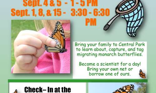 Help with monarch butterfly tagging in Jones County in September