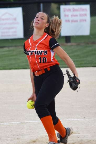 VBC's Huff misses perfect softball game with walk, records 16-strikeout no-hitter