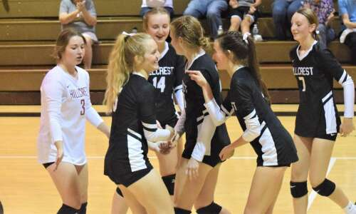 Hillcrest Academy can't step past Winfield-Mount Union volleyball