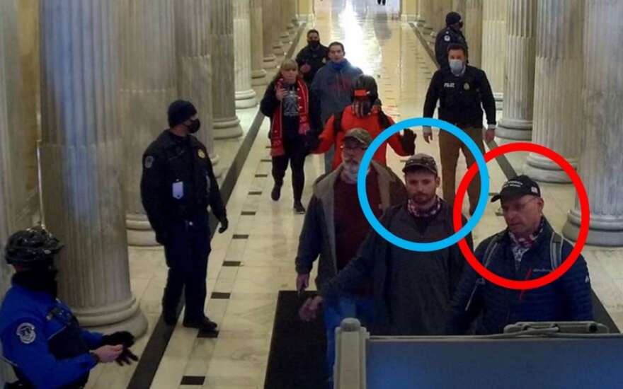 Iowa father, his son charged with storming Capitol during Jan. 6 riot