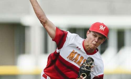 Marion sweeps Beckman in battle of ranked Wamac baseball teams