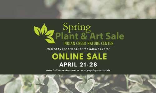 Friends of Indian Creek Nature Center's next spring sale starts…
