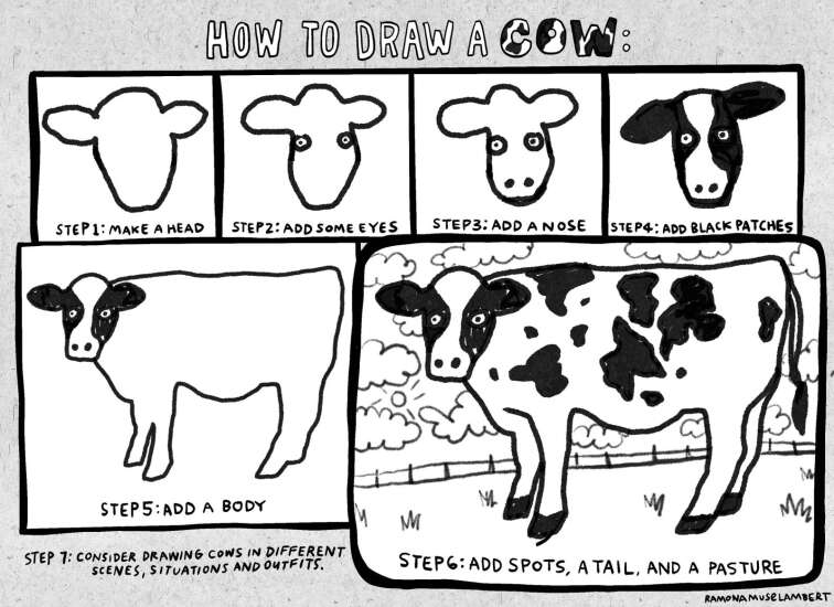 Get creative and draw your own cows