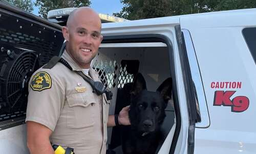 Deputy Scott Bell and K-9 Axel complete training
